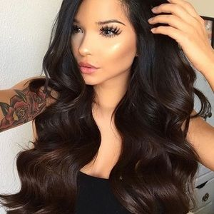 """💫26"""" DARK BROWN BODY WAVY LACE FRONT WIG💫 …NEW"""